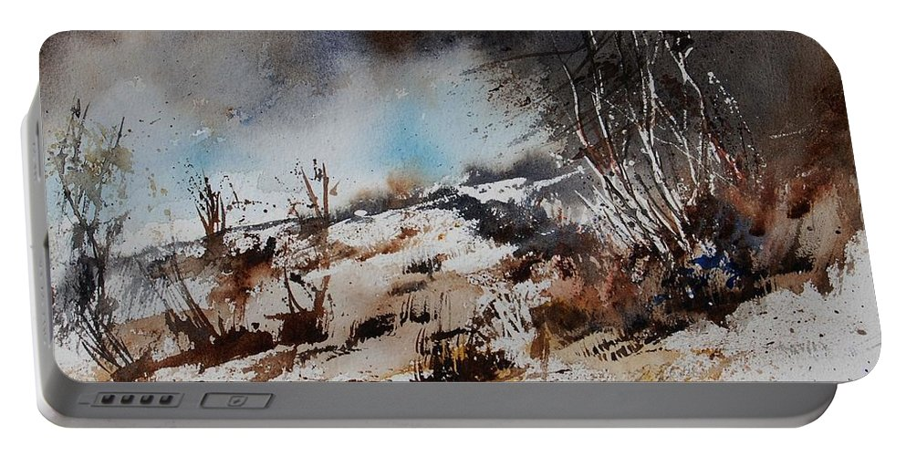 River Portable Battery Charger featuring the painting Watercolor Jjook by Pol Ledent