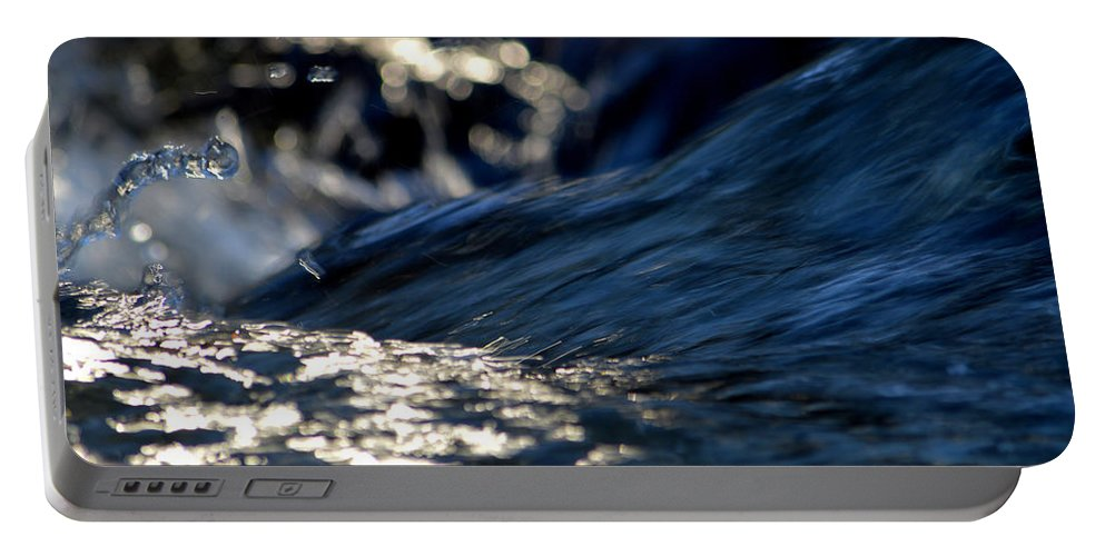 Winter Portable Battery Charger featuring the photograph Waterfall At Dawn by Dianne Cowen