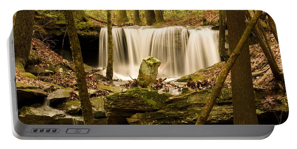 Waterfall Portable Battery Charger featuring the photograph Waterfall At The Ruins by Douglas Barnett