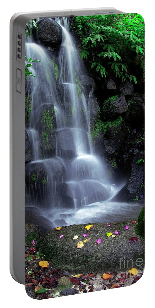 Autumn Portable Battery Charger featuring the photograph Waterfall by Carlos Caetano