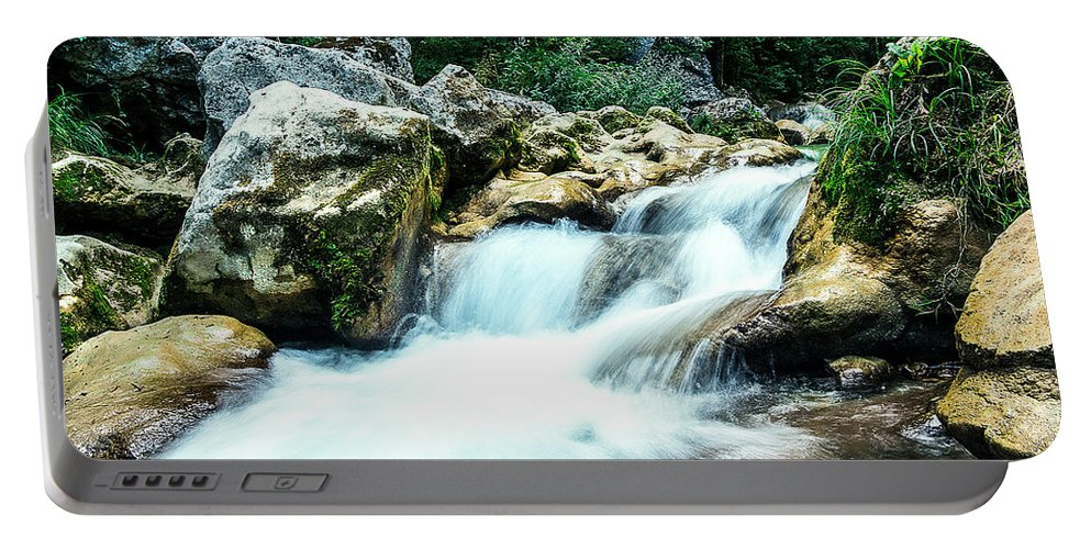 Waterfall Portable Battery Charger featuring the photograph Waterfall by Florian LEPREST