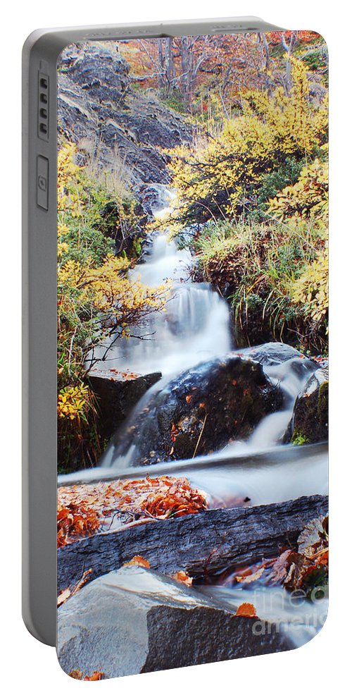 Portable Battery Charger featuring the photograph Waterfall In Autumn by Mircea Costina Photography