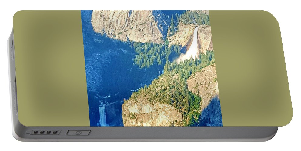 Landscape Portable Battery Charger featuring the photograph Waterfall by Shannon Elizabeth