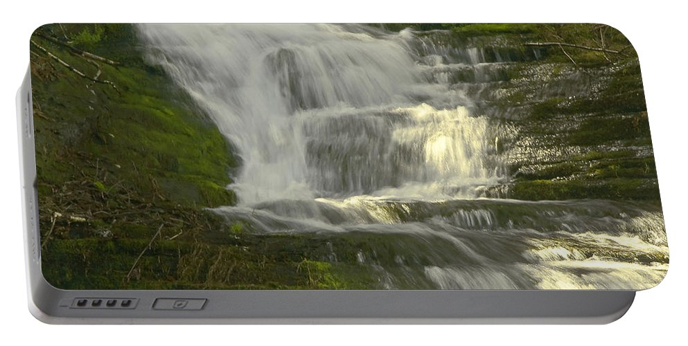 Waterfall Portable Battery Charger featuring the photograph Waterfall02 by Svetlana Sewell