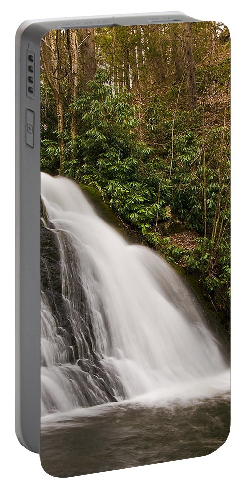 Waterfall Portable Battery Charger featuring the photograph Waterfall04 by Svetlana Sewell
