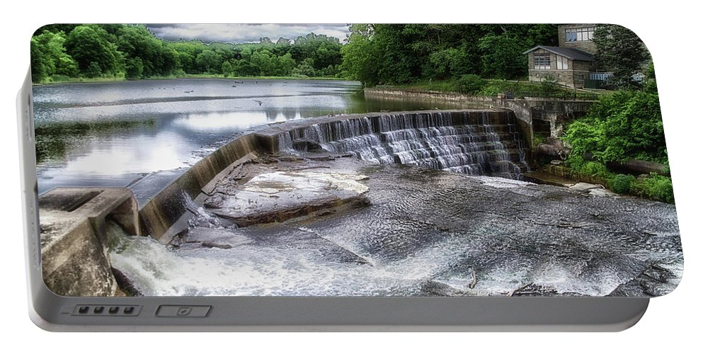 Cornell University Portable Battery Charger featuring the photograph Waterfalls Cornell University Ithaca New York 07 by Thomas Woolworth