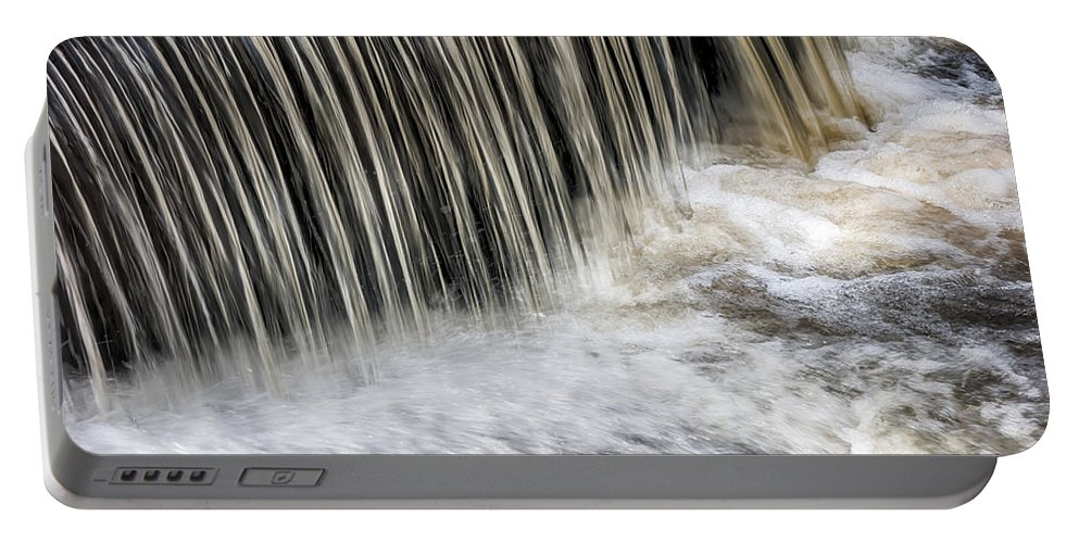 Flowing Portable Battery Charger featuring the photograph Waterflow Waterfall On A Small Creek by Alex Grichenko