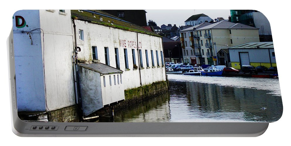 River Portable Battery Charger featuring the photograph Waterfront Factory by Tim Nyberg