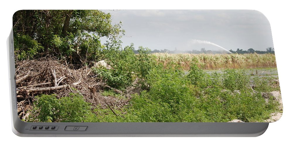 Leaves Portable Battery Charger featuring the photograph Watering The Weeds by Rob Hans
