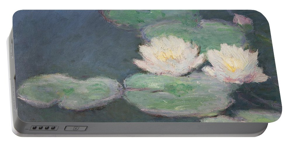 Waterlilies Portable Battery Charger featuring the painting Waterlilies by Claude Monet