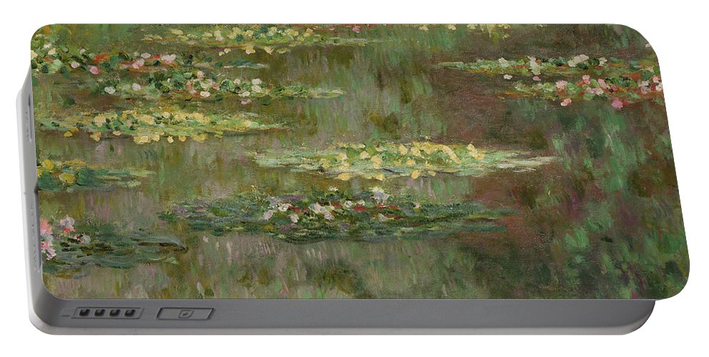 French Portable Battery Charger featuring the painting Waterlilies Or The Water Lily Pond by Claude Monet