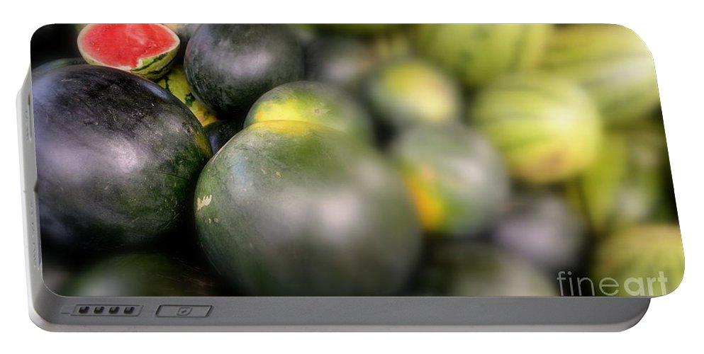 Watermelon Portable Battery Charger featuring the photograph Watermelon by Suranga Basnagala