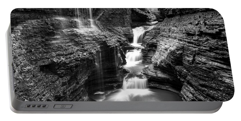 Rainbow Falls Portable Battery Charger featuring the photograph Watkins Glen Rainbow Falls #2 by Stephen Stookey