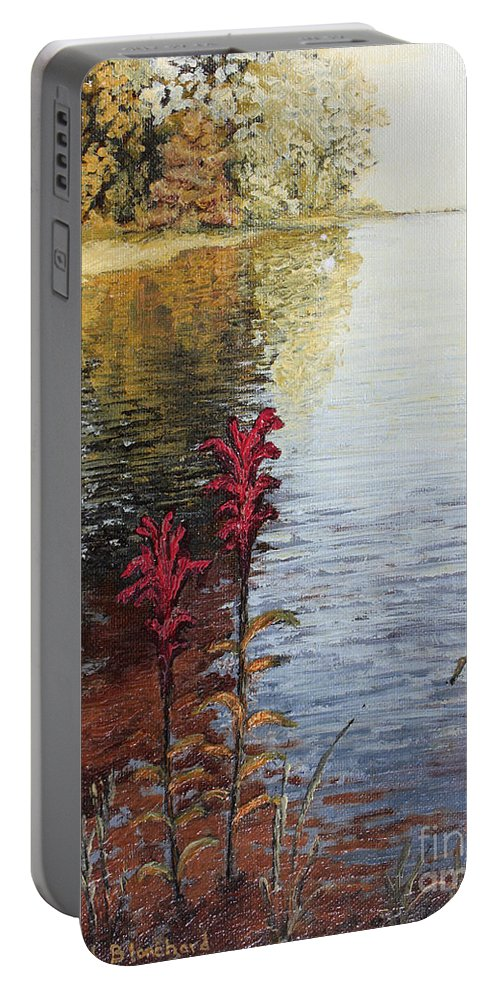 Landscape Portable Battery Charger featuring the painting Watts Bar Lake Rockwood Tn by Todd Blanchard