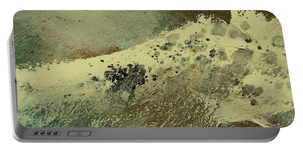 Sea Portable Battery Charger featuring the painting Wave by Pol Ledent