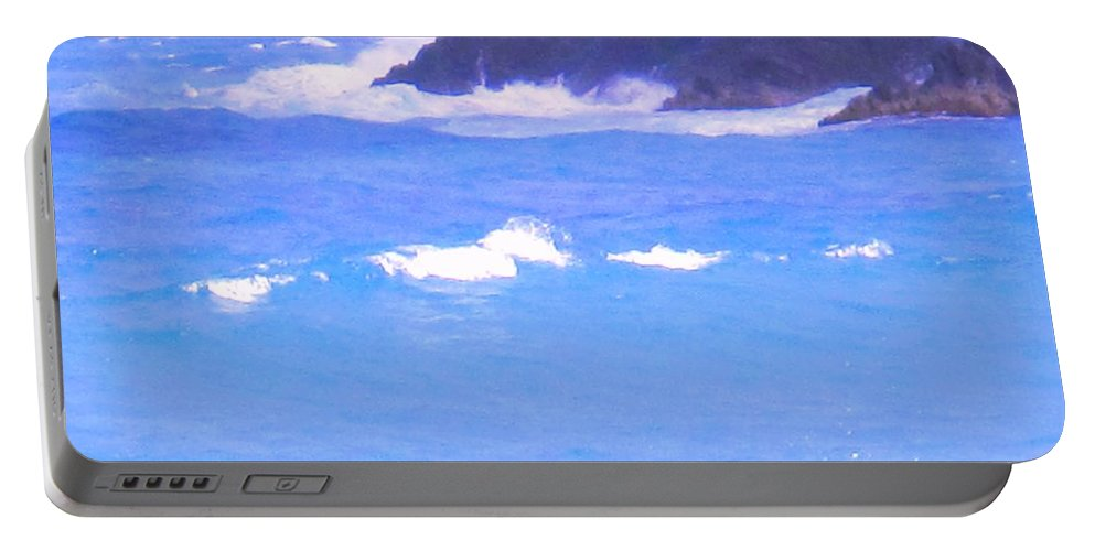 Ocean Portable Battery Charger featuring the photograph Waves Crashing by Ian MacDonald