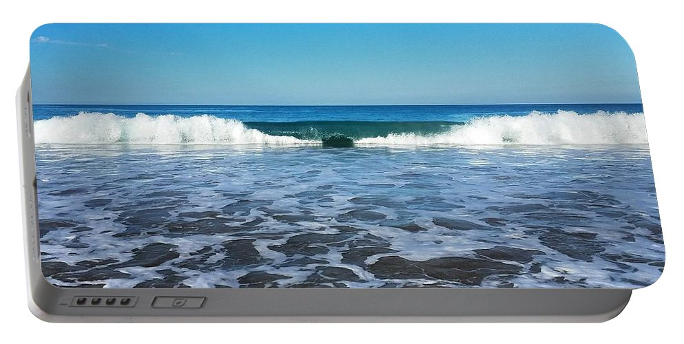 Portable Battery Charger featuring the photograph Waves by Marc Love
