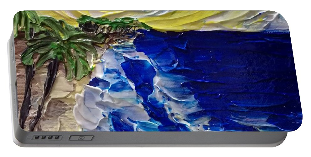 Painting Portable Battery Charger featuring the painting Waves by Nataliia Plakhotnyk