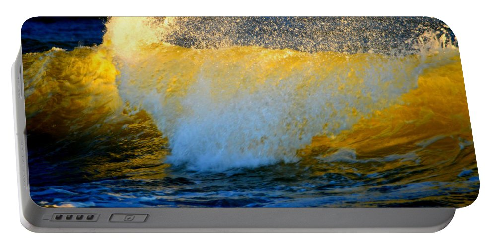 Ocean Portable Battery Charger featuring the photograph Waves Of Desire by Dianne Cowen