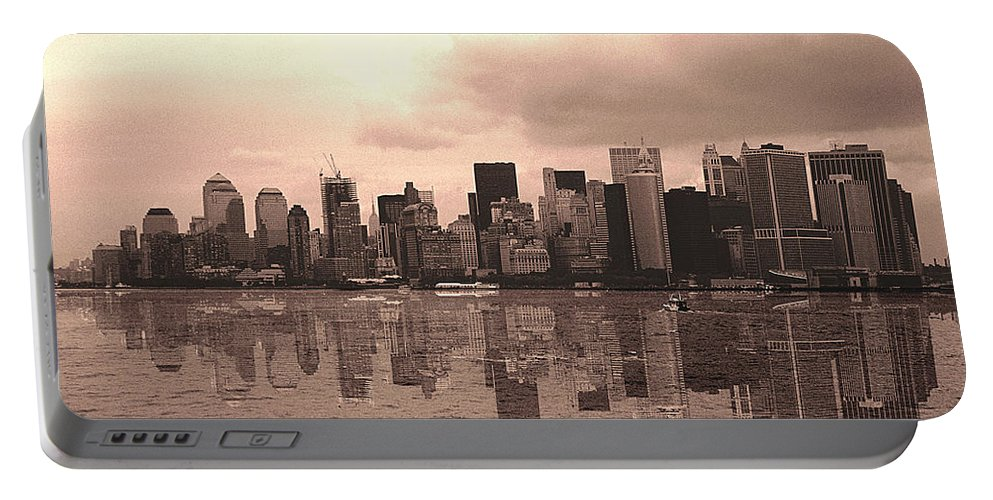 Photo Portable Battery Charger featuring the photograph We Are Watched by Enrique Crusellas
