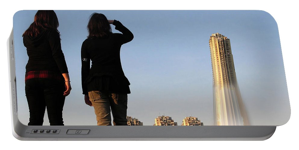 Rocket Portable Battery Charger featuring the photograph We Have Lift-off by Gravityx9 Designs
