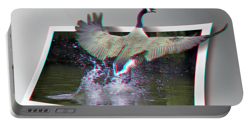 3d Portable Battery Charger featuring the photograph We Have Liftoff - Use Red-cyan 3d Glasses by Brian Wallace