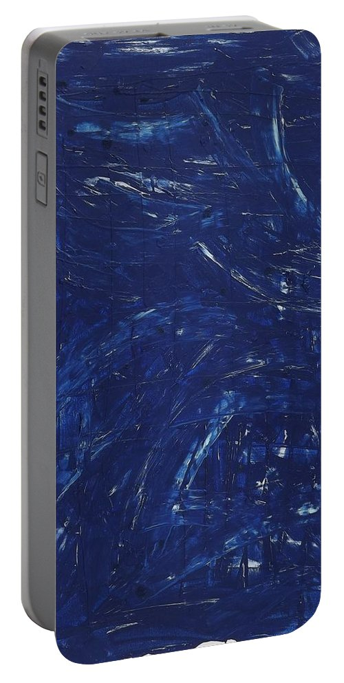 Abstract Art Portable Battery Charger featuring the painting Weak Nuclear Interaction by John Dossman