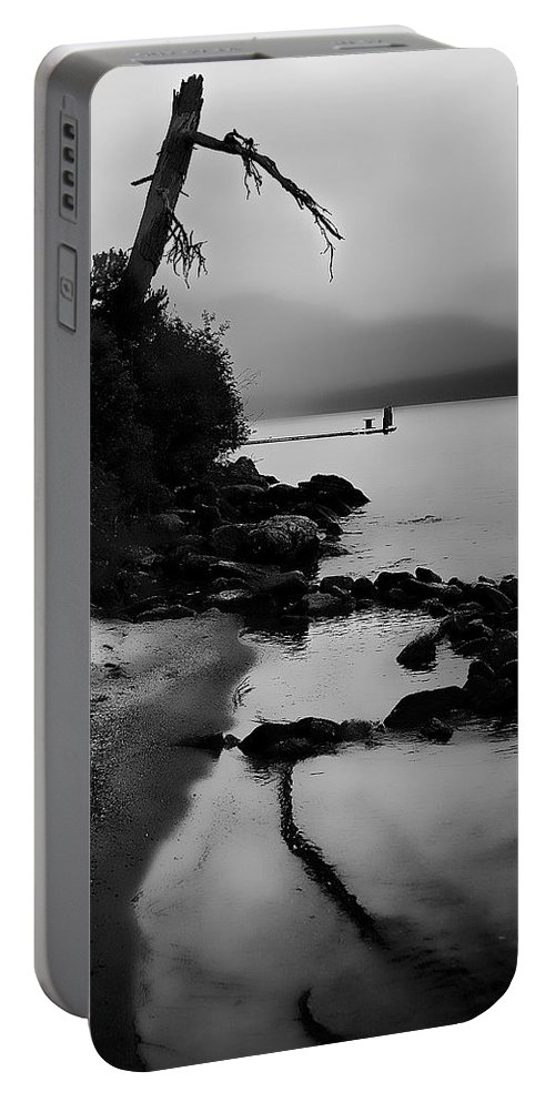 Boathouse Portable Battery Charger featuring the photograph Weathered by David Patterson