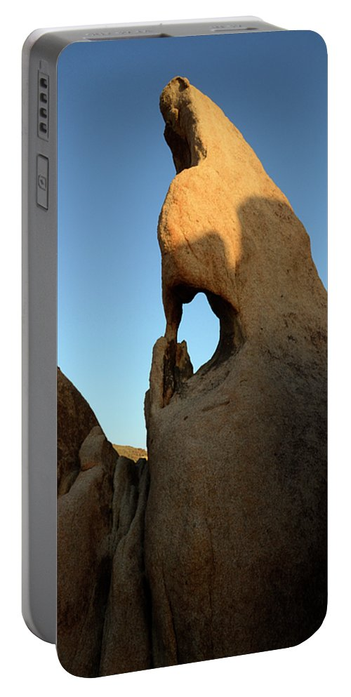 Arch Portable Battery Charger featuring the photograph Weathered Rock by Bob Christopher