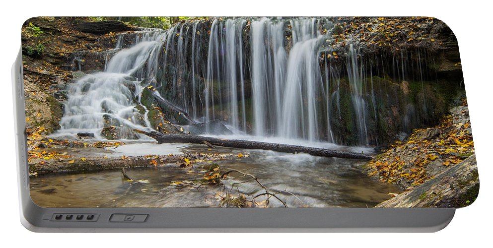 Landscape Portable Battery Charger featuring the photograph Weaver's Creek Falls by Richard Kitchen