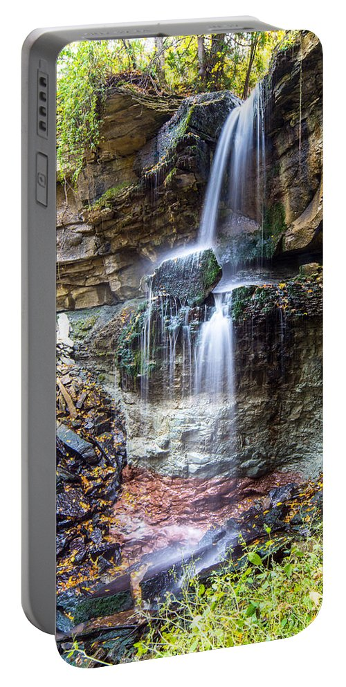Landscape Portable Battery Charger featuring the photograph Webwood Falls by Richard Kitchen