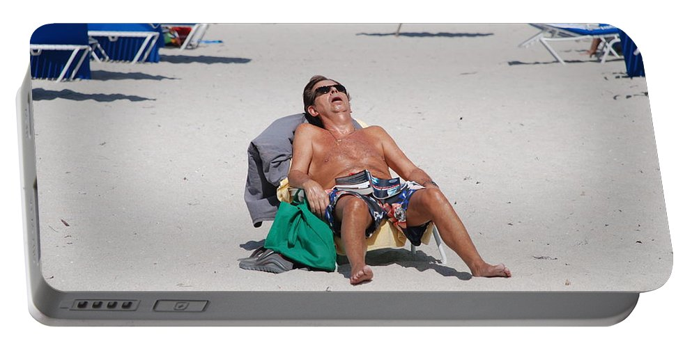 Beach Portable Battery Charger featuring the photograph Weekend At Bernies by Rob Hans