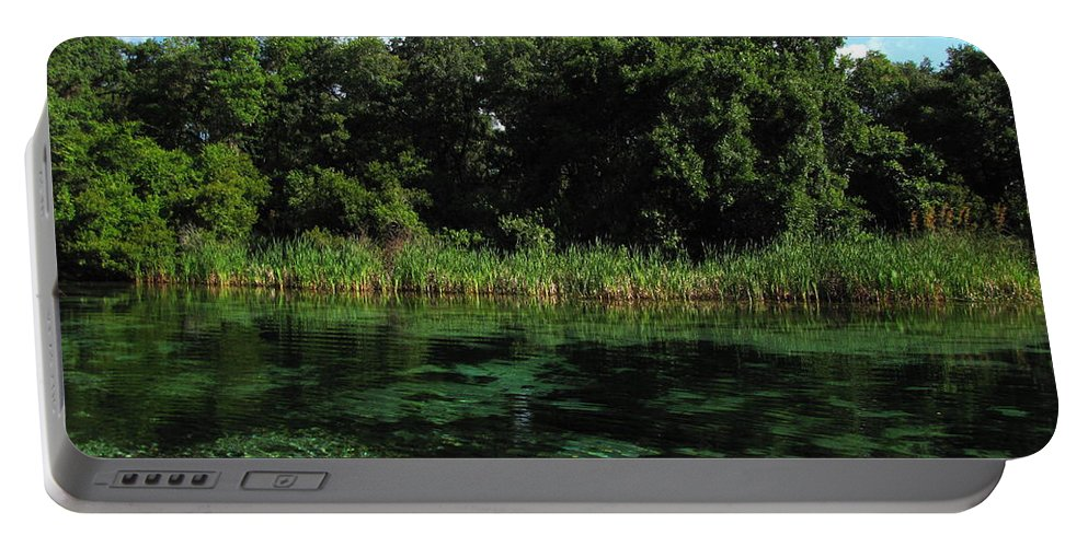 Weeki Wachee River Portable Battery Charger featuring the photograph Weeki Wachee River by Barbara Bowen