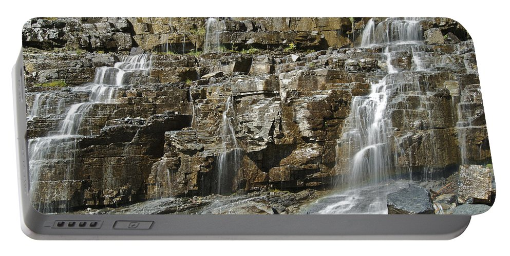 Landscape Portable Battery Charger featuring the photograph Weeping Wall by Michael Peychich