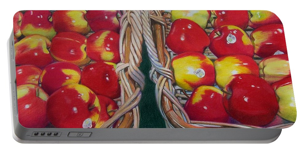 Apple Portable Battery Charger featuring the mixed media Wegman's Best by Constance Drescher