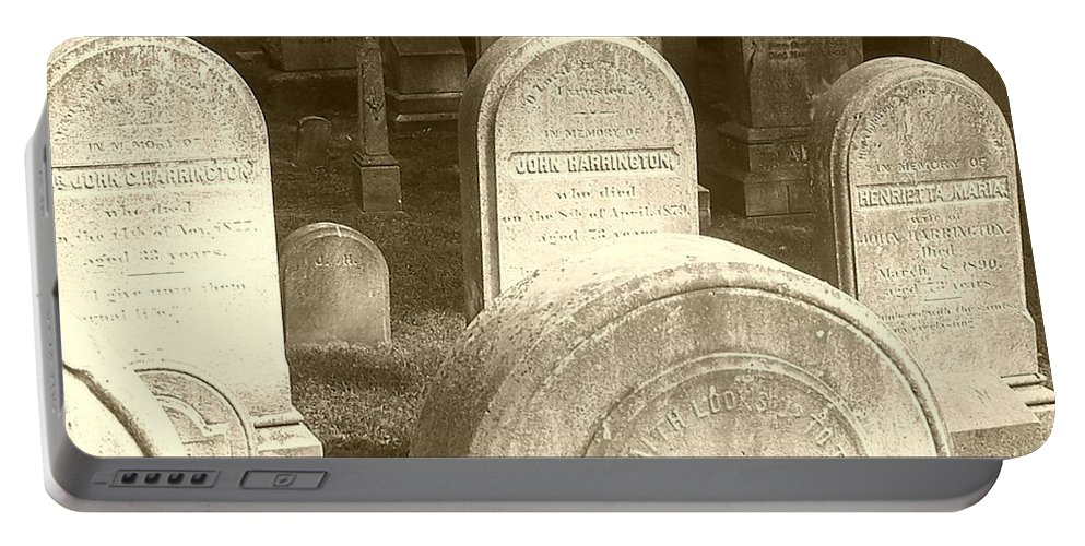 Cemetery Portable Battery Charger featuring the photograph Welcome by Debbi Granruth
