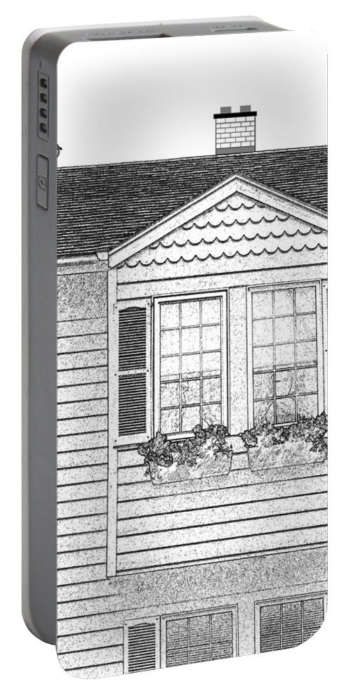 Welcome Home Portable Battery Charger featuring the digital art Welcome Home 7 by Will Borden