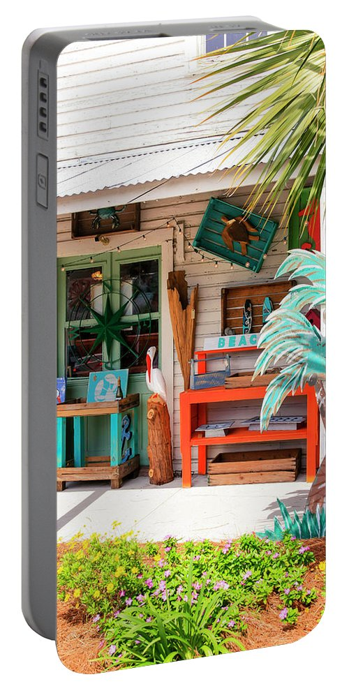 Handmade Portable Battery Charger featuring the photograph Welcome To Florida by Chris Smith