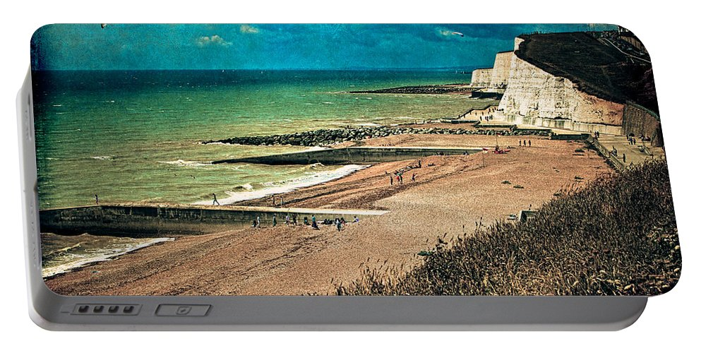 Beach Portable Battery Charger featuring the photograph Welcome To Saltdean An Imaginary Postcard by Chris Lord