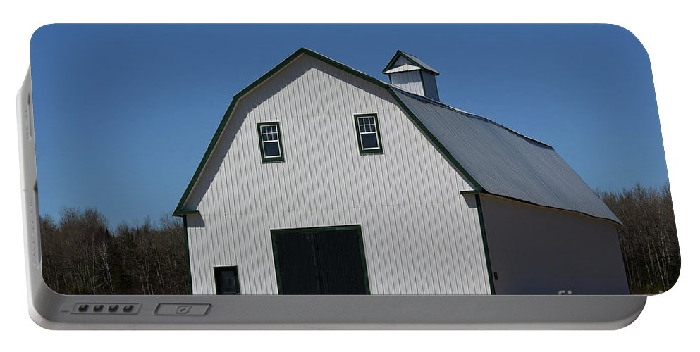 Barn Portable Battery Charger featuring the photograph Well Preserved Barn by William Tasker