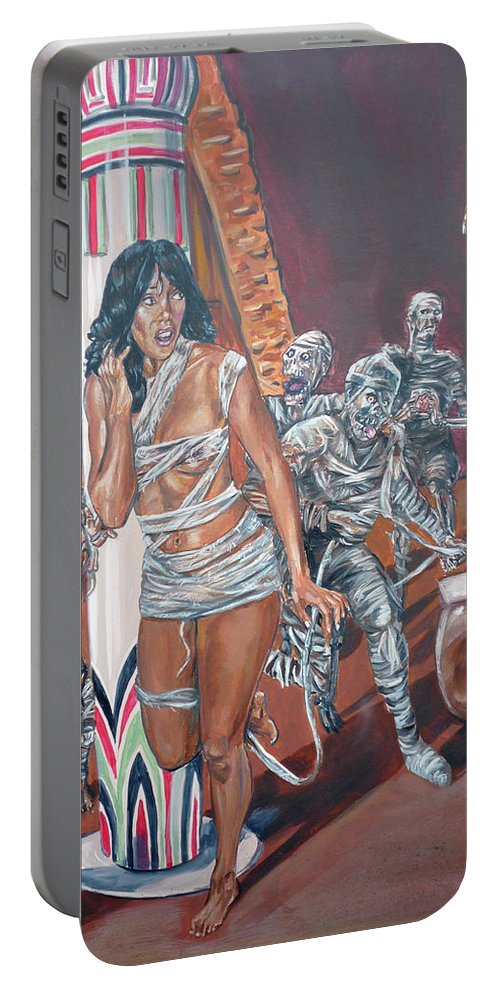 Egypt Portable Battery Charger featuring the painting Well Preserved by Bryan Bustard