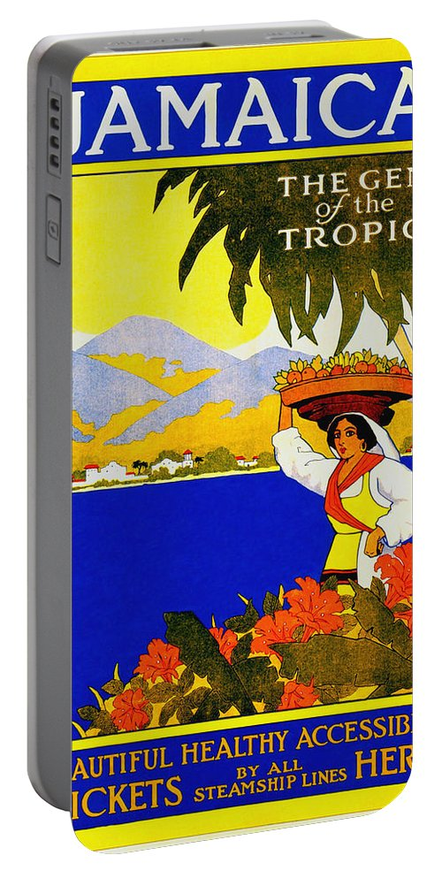 Jamaica Portable Battery Charger featuring the photograph Wellcome To Jamaica by Trevor Burke