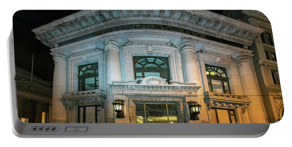 Wells Fargo Bank Portable Battery Charger featuring the photograph Wells Fargo Bank Building In San Francisco, California by David Oppenheimer