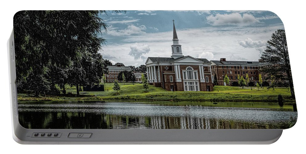 Macon Portable Battery Charger featuring the photograph Wesleyan Chapel by Thomas Fields