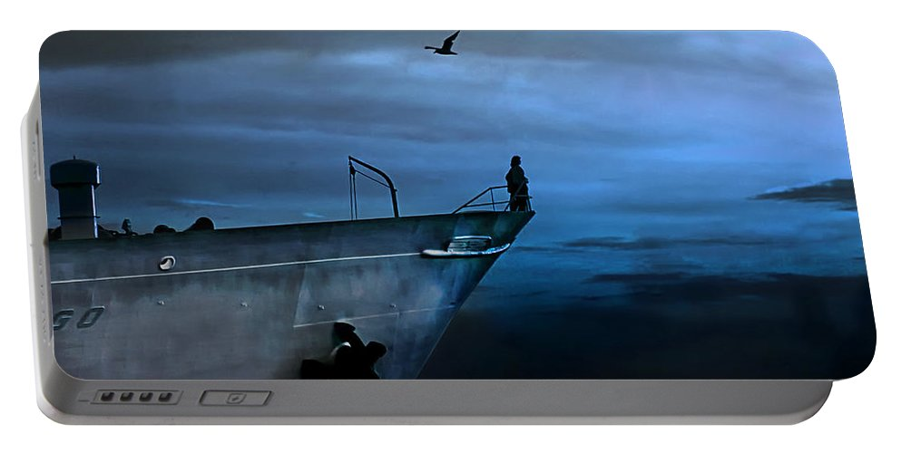 Ship Portable Battery Charger featuring the photograph West Across The Ocean by Joachim G Pinkawa
