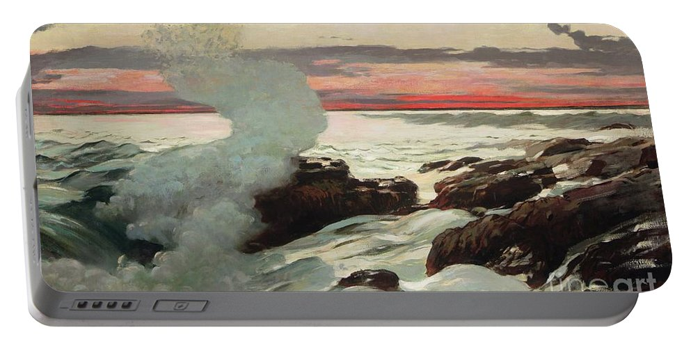 West Point Portable Battery Charger featuring the painting West Point Prouts Neck by Winslow Homer