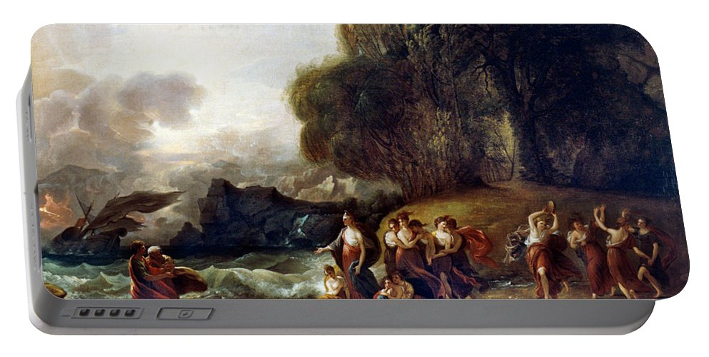 1809 Portable Battery Charger featuring the painting West: Telemachus by Granger