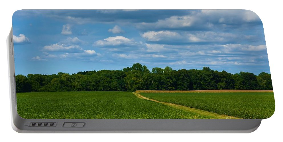 West Virginia Portable Battery Charger featuring the photograph West Virginia Field by Lisa Kleiner