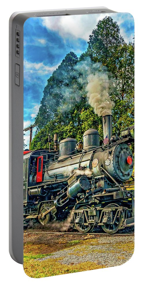Pocahontas County Portable Battery Charger featuring the photograph West Virginia Steam Engine by Steve Harrington