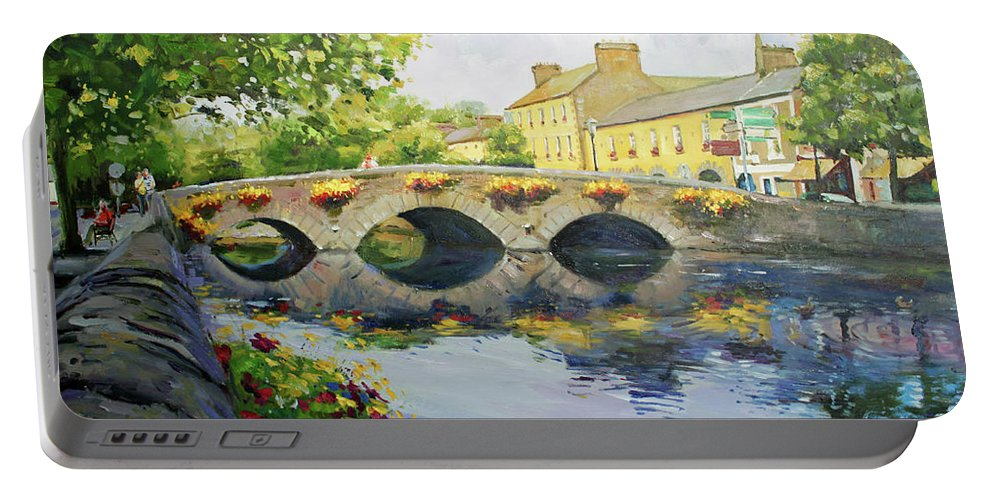 Westport County Mayo Portable Battery Charger featuring the painting Westport Bridge County Mayo by Conor McGuire